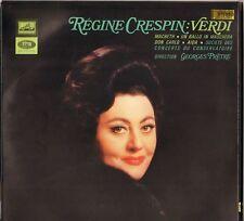 """REGINE CRESPIN """"VERDI"""" 60'S LP  LA VOIX DE SON MAITRE ASDF 879 STEREO"""