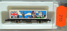 Great Britain,wagon transport de conteneurs Kolls 87704 Märklin 8615 Z 1/220 251