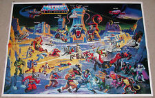 1986 He-Man MOTU Masters Eternia Battle Ground Poster (ORIGINAL) Unused