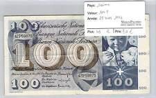 BILLET SUISSE - 100 FRANCS  28-3-1963*