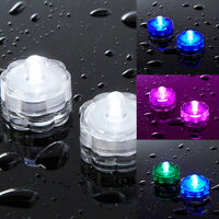 2er-20er Set LED Teelichter Wasserdicht Unterwasser Schwimmkerze versch. Farben