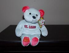 "St Louis Cardinals Bammers Baseball Plush Bear NWT 8"" Bonus Pin. 2000"