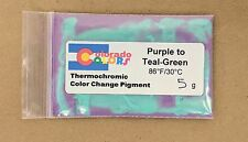 Purple to Teal Green Thermochromic Color Heat Change Powder Pigment 5g 88F
