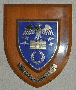 Vintage Bicester Garrison regimental mess wall plaque shield
