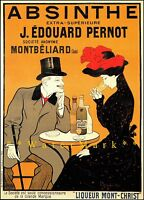 Absinthe 1902 JE Pernot Vintage Poster Print Cappiello Art Advert French Cafe