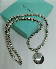 Tiffany & Co Elsa Peretti Disk Pendant Necklace beads  ORIGINAL