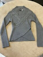 Venus Womans Small Charcoal Gray Acrylic Sweater