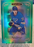 2019-20 UD STATURE GREEN PARALLEL ROOKIE KLIM KOSTIN /149 ST LOUIS BLUES. 🏒🏒🏒