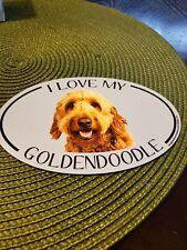 I Love My Goldendoodle Magnet