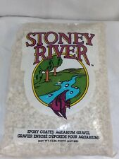 STONEY RIVER EPOXY COATED AQUARIUM GRAVEL WHITE COLOR 5LB BAG NEW OTHER FREE SHP