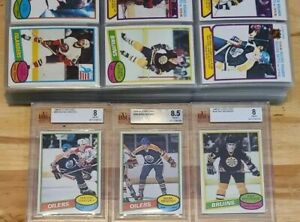 1980/81 O-Pee-Chee Hockey Set Impeccable Messier RC BVG 8.5 Gretzky 8 PSA Ready