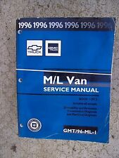 1996 GMC Truck M / L Van Service Manual 2 Volume BIG Diagnosis Adjustments   U