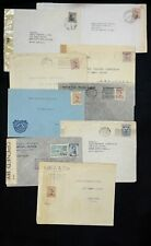 Uruguay 9 WWII Era Covers Healthy Mix of Censored Examined Letters See Pics