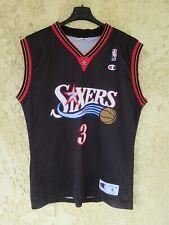 Maillot basket SIXERS IVERSON 3 NIKE NBA shirt noir Philadelphia 76ers vintage S