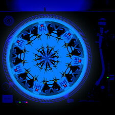 Dj Turntable Slipmat 12 inch Glow under Blacklight - Evil