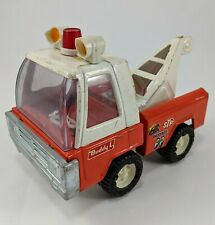 Vintage 1960s 1970's Buddy L Tow Truck Pressed Steel Japan Red White