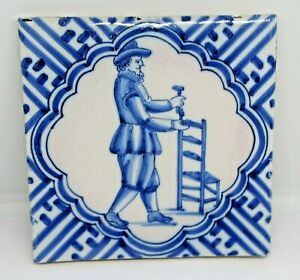 Delft Blue And White Tile MAN CHAIR MAKER