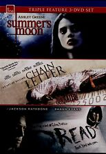 NEW TRIPLE  FEATURE DVD // SUMMERS MOON + CHAIN LETTER,+ DREAD // ASHLEY GREENE