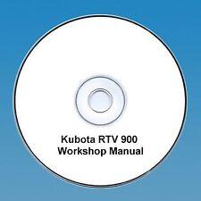 Kubota RTV 900 UTV Utility Véhicule Workshop Manual PDF CD