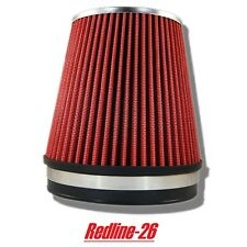 """Red Universal Cone Truck Cold Air Filter Replacement (6"""" / 152 mm) Inlet"""