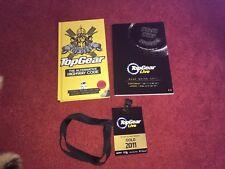 3 X Top Gear Live 2011 artículos, código de circulación LIBRO, Guía Y Oro Cordón de paso
