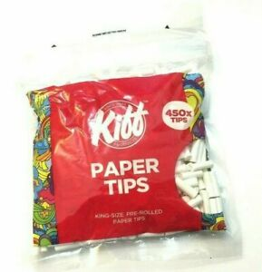 450Pc KING SIZE PRE ROLLED ROACHES  Rolling Resealable Bag BULL BRAND tips