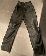 Ladies Black Leather Trousers Size 10