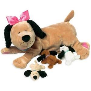 NEW Manhattan Toy Company Nursing Nana Plush Dog & Puppies