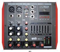 Mixer Verstärkt 2x100W 4CH Mit Phantom Und USB