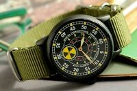 Vintage Mens watch POBEDA ZIM Radiation Troops Mechanical Soviet Watches /Gift