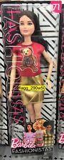 *Barbie Fashionistas* 2018 RED TEDDY BEAR FLAIR TOP GOLD MINI SKIRT DOLL #71