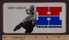 1983 DANNY CHANDLER HONDA STICKER Vintage Motocross CR250R CR125R CR480R CR500R