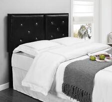 Kings Brand Furniture Black Metal Full Size Tufted Design Upholstered Headboard