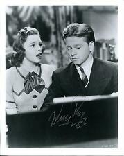 MICKEY ROONEY CHILD ACTOR IN BOY'S TOWN BABY FACE NELSON SIGNED PHOTO AUTOGRAPH