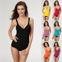 Women Built-in Bra Padded Strap Yoga Tank Top Girls Camisole Cami Vest Tops US