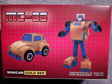Transformers G1 styled minibot Impossible Toys MC-05 Gold Bee