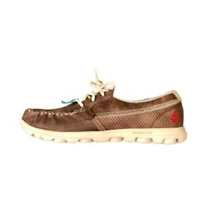 Skechers On The Go Shoes Women Brown 6.5 Lace Up