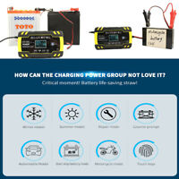 Chargeur de Batterie 4A/24v 8A/12V Voiture Moto Rapide Smart Indicateur LCD FR