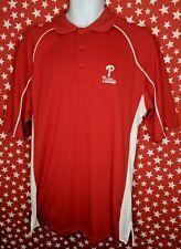 New listing Philadelphia Phillies Mens Polo Shirt Red Lee Sport MLB Baseball Medium NWT A538