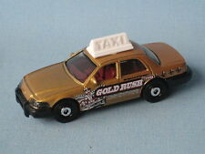 Matchbox Crown Victoria Gold Taxi Cab Las Vegas New York Style Toy Model Car