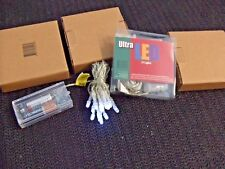 15 Ultra LED Lights, x 6' long String, Blue Color, Battery Operated lot of 4 !