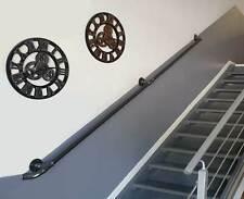 Main courante rampe murale escalier acier Rambarde indus vintage 135 - 335cm