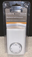 Cadet Double Pole 4-Wire Mechanical Wall Thermostat f/ Electric Baseboard T522-W