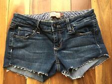 Paige Premium Petite Denim Cut Off Shorts, Canyon Boot Petite, size 26
