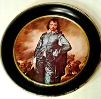 Metal Serving Tray The Blue Boy Vintage Sir Thomas Gainsborough Red Collectibles