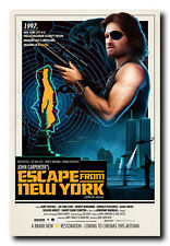 Escape from New York Movie Poster 24x36 Inch Wall Art Print - Kurt Russell
