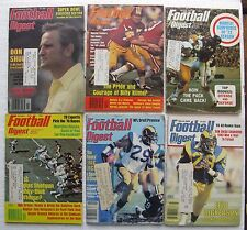 """(6) Old """"Football Digest"""" Magazines with """"The Game I'll Never Forget"""" and more"""