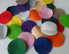 Multi coloured felt circles -  2cm -  QTY: 100 BULK pack.