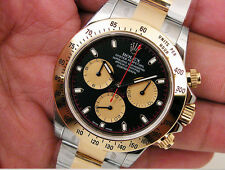 Rolex DAYTONA 116503 Mens Steel & Yellow Gold Black Paul Newman Dial 40MM
