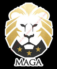 TRUMP MAGA LION Vinyl FULL COLOR Decal Sticker 4 inches tall #MAGA
